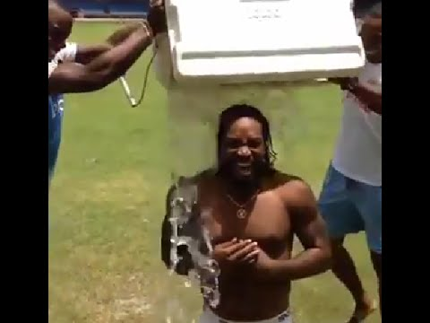 Chris Gayle Ice Bucket Challenge Full Video (funny Version) video