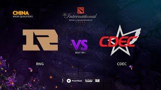RNG vs CDEC, TI9 Qualifiers CN, bo5, game2 [Adekvat & Lost]