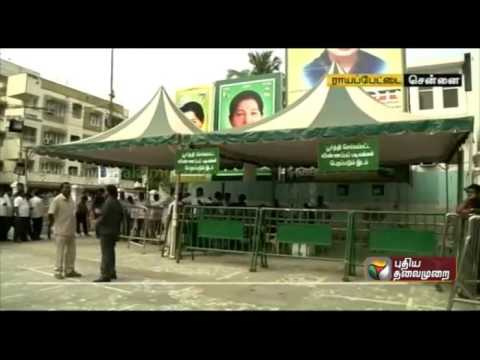 ADMK's issue of application for contesting in the elections closes today