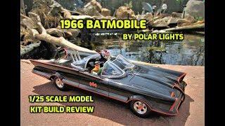 Polar Lights 1966 Batmobile w/Batman & Robin Figures 1/25 Scale Model Kit Review POL965