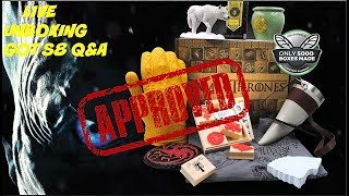 LIVE - Culturefly GOT Box Unboxing Game Of Thrones Season 8 Predictions