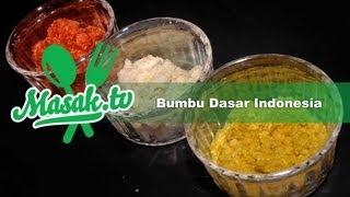 Bumbu dasar Indonesia - Indonesian Basic Spices | Resep #003