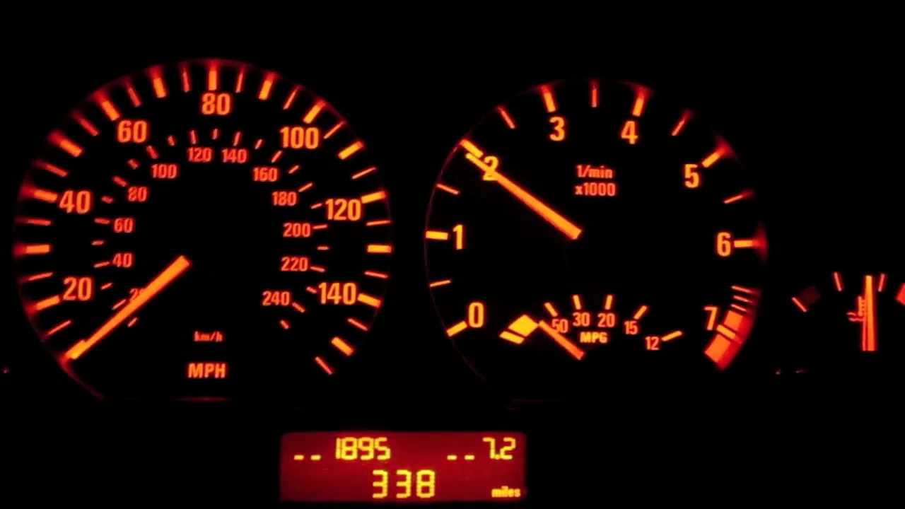 Bmw Warning Lights >> BMW E46 330i Secret OBC Function - Digital RPM - YouTube
