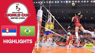 SERBIA vs. BRAZIL - Highlights | Women's Volleyball World Cup 2019