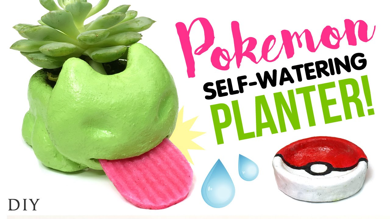 Diy self watering planter inspired by pokemon go testing diy oven fired ceramic clay youtube