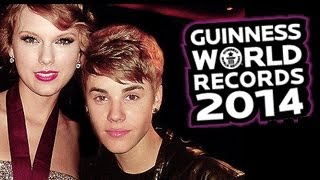 Justin Bieber, Taylor Swift, One Direction and Rihanna Enter The Guinness Book 2014