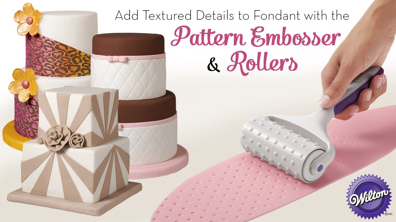 Add Textured Details To Fondant With The Wilton Pattern