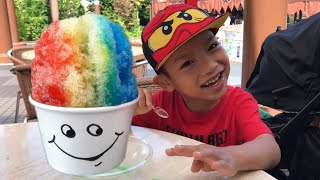 Shave ice with Toca tv
