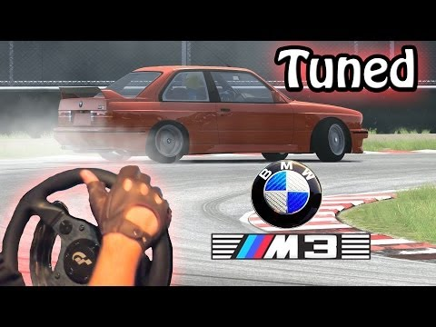 Assetto Corsa - TUNED BMW m3 e30 DRiFT mod setup! (Steering Wheel gameplay. t500rs & th8rs). HD