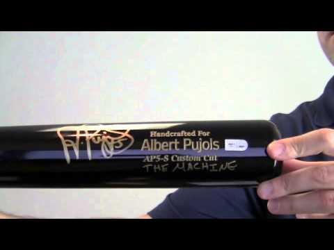 Pujols Autographed Autographed Albert Pujols Bat
