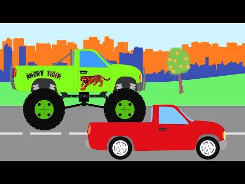 Автомеханик Роби  Помогает Пикапу стать Монстр Траком.  Мультфильм для детей