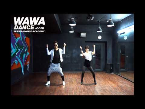 Wawa Dance Academy Psy Gentleman Dance Step Mirrored Mode video