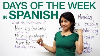 Basic Spanish: Days of the week in Spanish