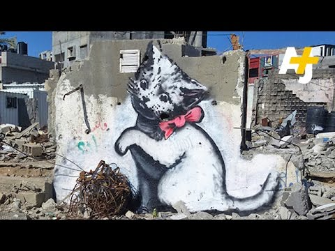 Banksy Promotes Gaza 'Tourism' With Internet Cats