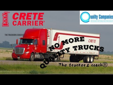CRETE CARRIER no longer leasing on QUALITY LEASE TRUCKS for Lease Purchase Owner Operators