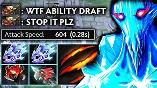 100% Cancer Skill in Ability Draft + MAX Attack Speed Build Dota 2 gameplay by Aui_2000