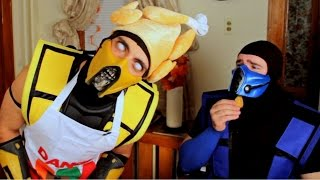 Scorpion and SubZero Ruin Thanksgiving! (Cooking With Scorpion #2)