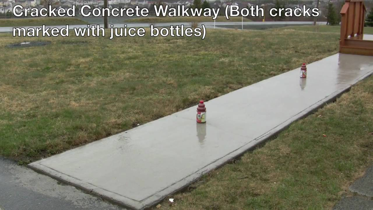 Cracked concrete walkway youtube for Removing concrete walkway