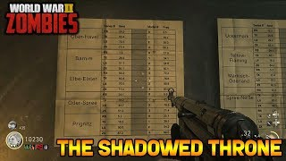 WW2 ZOMBIES - THE SHADOWED THRONE MAIN EASTER EGG HUNT!!! (Call of Duty WW2 Zombies)