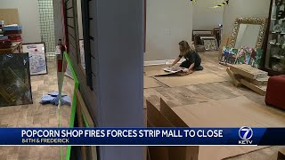 Popcorn fire could close strip mall for months