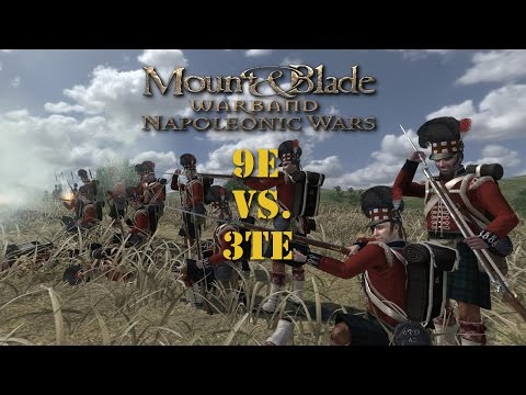 Mount and Blade: Napoleonic Wars - The 9e Vs. 3te 1v1 (Spectator)