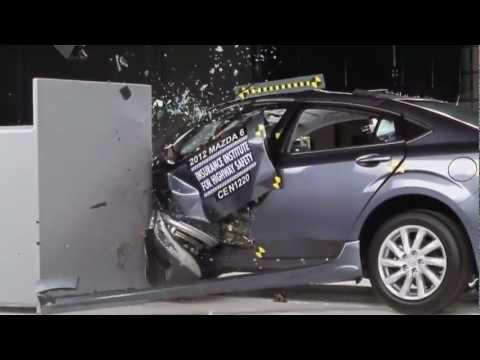 2012 Crash Test Mazda 6 Small IIHS Overlap Test [Acceptable]