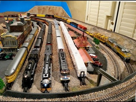 B&P South-Western O Gauge Model Train Layout - 2