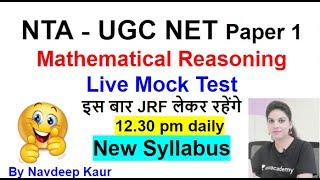 Live Mock Test 30 NTA UGC NET Mathematical Reasoning