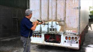 Touchlessly Cleaning a VERY Dirty Trailer