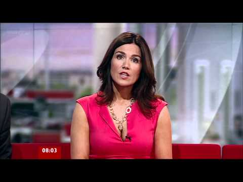 Susanna Reid - Ravishing Open Cleavage Pretty In Pink - 09-Sep-11