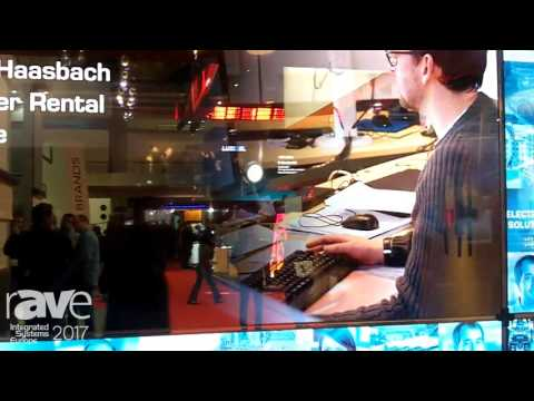 ISE 2017: LANG AG Demos GhosT-OLED primeTOUCH Transparent Display Solution