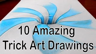 10 Amazing Trick Art Drawings - Compilation Video