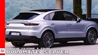 2020 Porsche Cayenne S Coupe Dolomite Silver Metallic