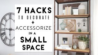 Small Apartment Decorating | 7 Hacks to Decorate a Bookshelf