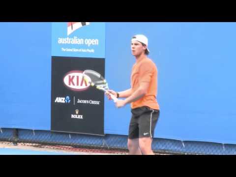 Rafa Watch - Day 2 practice 全豪オープン 2011