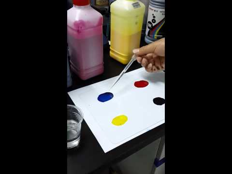 Inkworld solvent ink and eco solvent ink test result