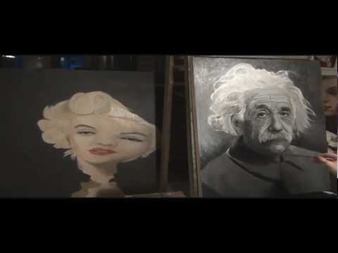 Albert Einstein Oil Painting Timelapse