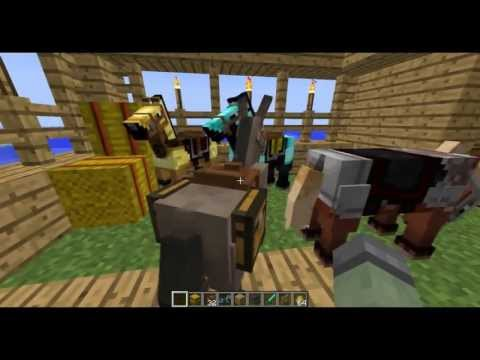 Minecraft Snapshot 1.6 Horses! How to Tame Horses! Carpets! Donkeys! 13w16a