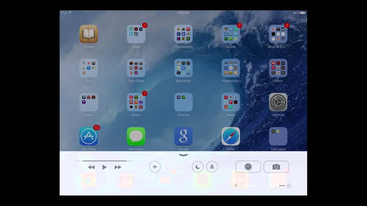 Control 4 Ipad Control Center For Ios 7 Ipad