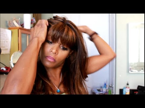 Tutorial: How to Sew On a Wig Versatile Natural Looking Sew-In High Ponytail Silhouette Eve P1B/30