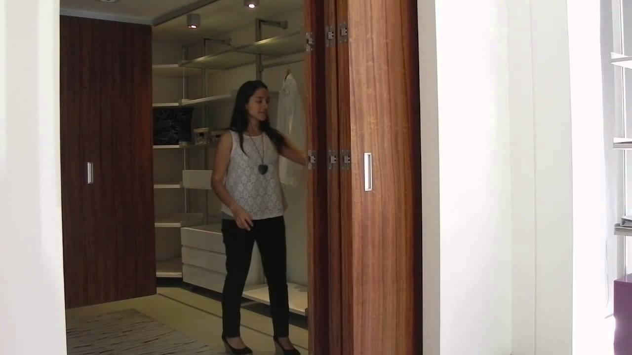 Tauro md sistema oculto para puertas plegables de madera youtube - Puertas de madera plegables ...