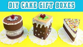 🍰DIY Chocolate Cake Gift Boxes - 5 minute crafts - simplekidscrafts