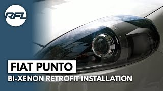 Fiat Punto Evo D2S Bi xenon projector instruction video