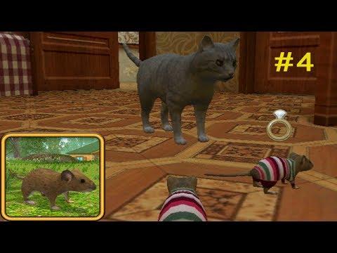 Симулятор Мыши #4 НОВЫЙ ДОМ новые Друзья и Враги Детское видео Игровой мультик Let's play