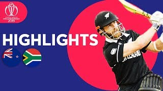 Final Over Drama! | New Zealand vs South Africa | ICC Cricket World Cup 2019 - Match Highlights