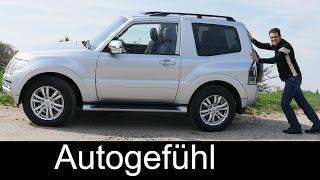 Mitsubishi Pajero Montero 3-door compact FULL REVIEW test driven - Autogefühl