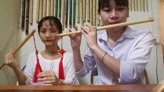 Tình Xưa Nghĩa Cũ - Sáo Trúc Oanh Cún - song tấu 2 chị em nhà Oanh Cún