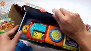 Đồ chơi xếp hình, bé chơi xếp hình ngồi nhà với đồ chơi xếp hình siêu xe
