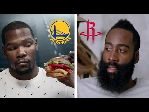 Best Funny James Harden and Kevin Durant Commercials Ft. Steph Curry, Foot Locker, Nike, Adidas...