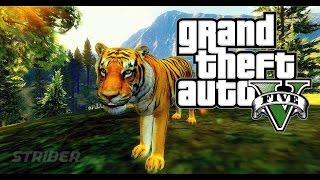 GTA 5 TIGER MODS:Khi chú cọp quậy nát sở thú-Tiger attack the zoo